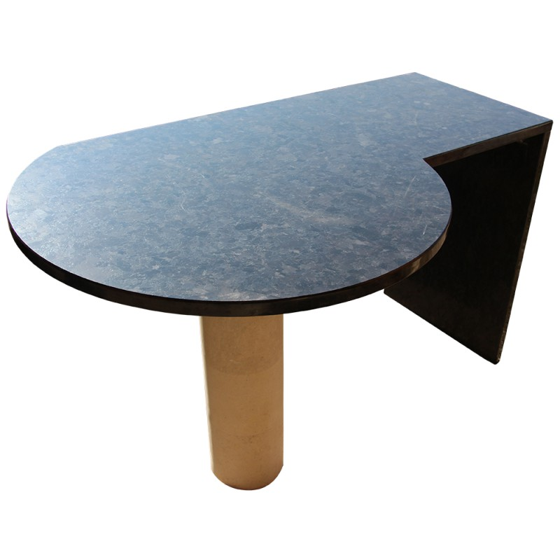 table en granit spectrolite brown satin avec pied en. Black Bedroom Furniture Sets. Home Design Ideas